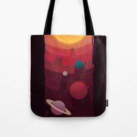 solar system Tote Bags featuring Solar System by badOdds