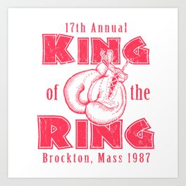 1987 King of the Ring Art Print