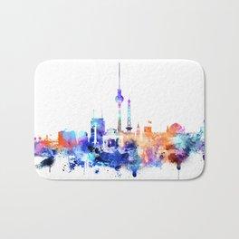 Berlin watercolor skyline Bath Mat