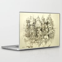 buildings Laptop & iPad Skins featuring graphic buildings by Nechifor Ionut