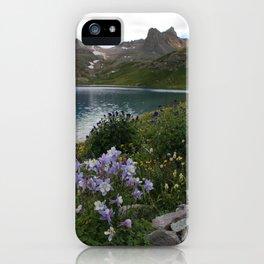 Colorado Columbine at Ice Lake iPhone Case
