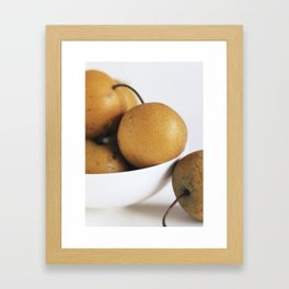 Asian Pears Framed Art Print