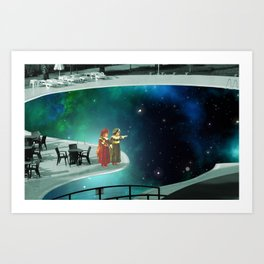 Space Pool Art Print