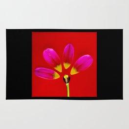 deconstructed tulip Rug