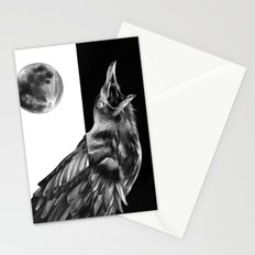 Crow and Full Moon Stationery Cards