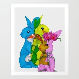Multiplied Rabbits Art Print