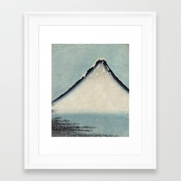 Hokusai, the blue fuji- hokusai,manga,japan,fuji, blue fuji,Shinto Framed Art Print