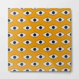 Third Eye Pattern Metal Print