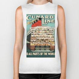 Vintage poster - Cruise Ship Biker Tank