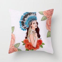 LDR X Throw Pillow