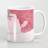 cigarette Mugs featuring winter cigarette by laura k. white