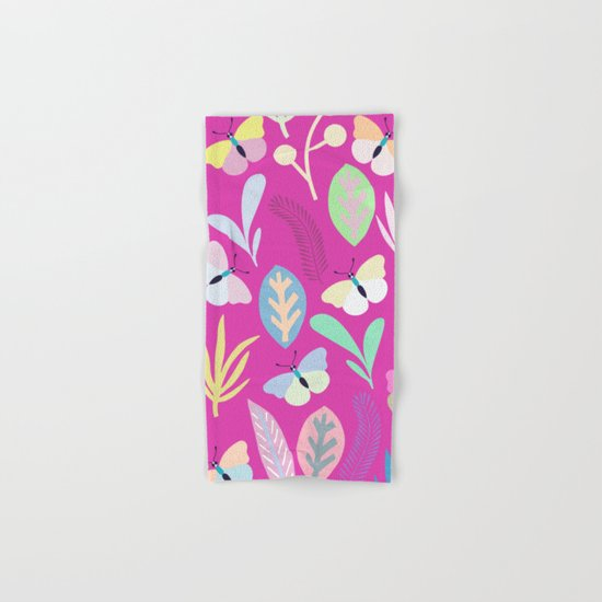 Flower and Butterfly Hand & Bath Towel