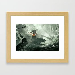 Warbeasts - CREATURES OF THE NORTH Framed Art Print