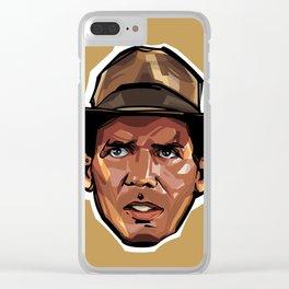 Indiana Jones Clear iPhone Case