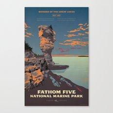 Fathom Five National Park Poster (Flowerpot Island) Canvas Print
