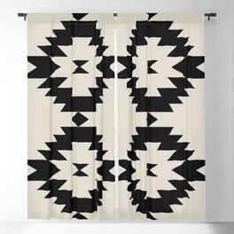 Southwestern Minimalism - Black Blackout Curtain