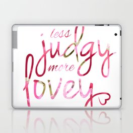 Less Judgy More Lovey Floral Pattern Laptop & iPad Skin