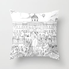 Pigeons Perspective Throw Pillow