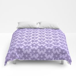 GRAPHIC PATTERN Sparkling stars | silver & ultra violet Comforters