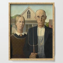 American Gothic by Grant Wood Serving Tray