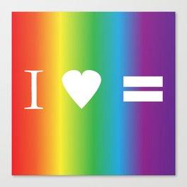 I heart Equality Canvas Print