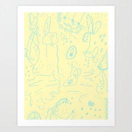 Organic Mess Art Print