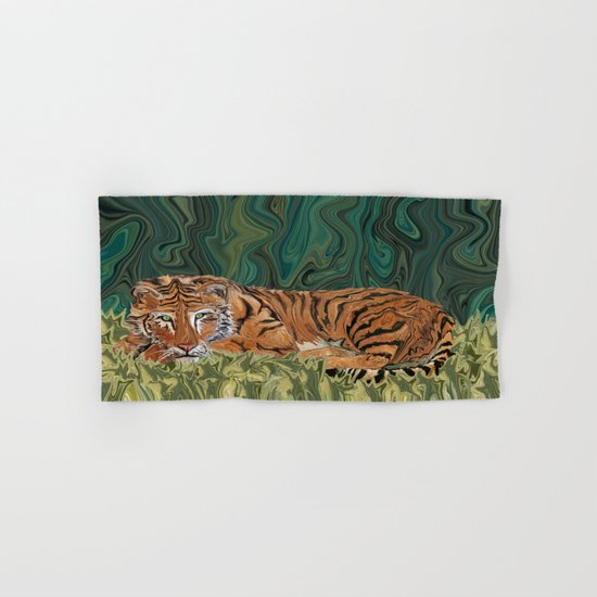 Tiger's Sunday Serendipity  Hand & Bath Towel