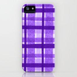 Tissue Paper Plaid - Purple iPhone Case