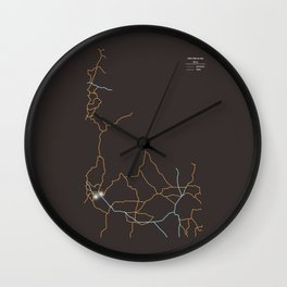 Idaho Highways Wall Clock