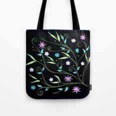 Flowering midnight Tote Bag