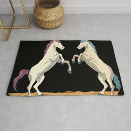 Rearing horses Rug