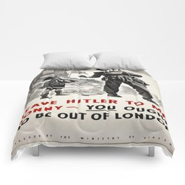 Vintage poster - Leave Him to Me Comforters