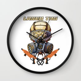 Tag Game Team Laser Guns Fire Shooting Infrared Beam Gift Cool Laser Tag Wall Clock
