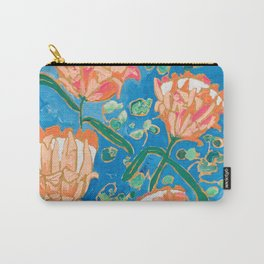 Four Orange Proteas Carry-All Pouch