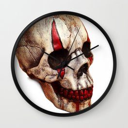 Circus Clown Skull Wall Clock