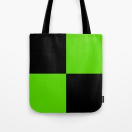 Big mosaic green black Tote Bag