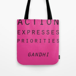 Action Gandhi Quote Tote Bag