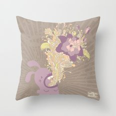 everything's coming out roses Throw Pillow