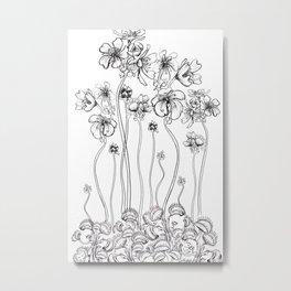 Floral Flytraps Metal Print
