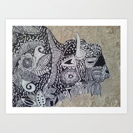 BISON BAROQUE Art Print
