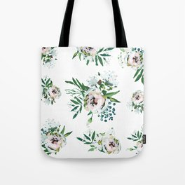Blush Floral Tote Bag