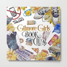 GG Book Club WhiteBG Metal Print