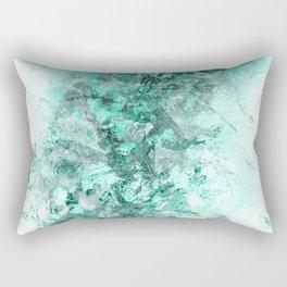 Abstract Aqua Floral Grunge Rectangular Pillow