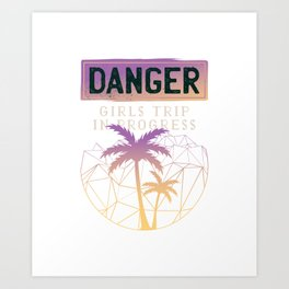 Caution women traveling Art Print