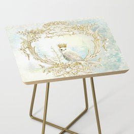 Owl Let it Snow Side Table
