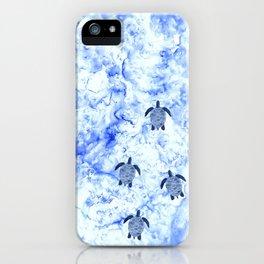 Baby Sea turtles in the Ocean Minimal Art Design iPhone Case