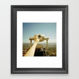 Through the Viewing Machine Framed Art Print