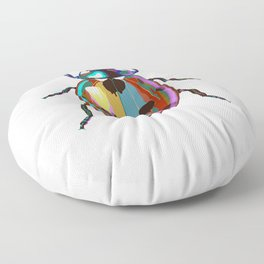 Colored Ladybug Floor Pillow