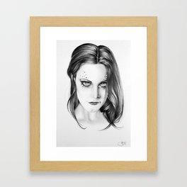 Floor Jansen Portrait Framed Art Print