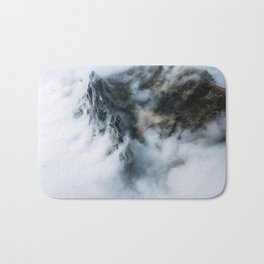 Moody Switzerland Mountain Peaks - Landscape Photography Bath Mat